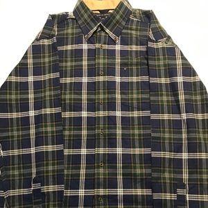 Tommy Hilfiger Long Sleeve Button Up Plaid Shirt